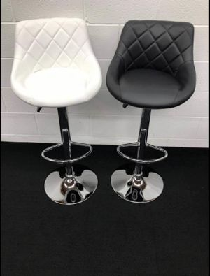 Counter Height Bar Stools Set of 2 Barstools Swivel Stool Height Adjustable Bar Chairs with Back PU Leather Swivel Bar Stool Kitchen Counter Stools D for Sale in Duluth, GA