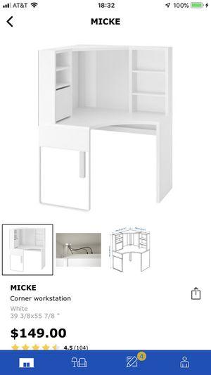IKEA Micke Corner Desk in White (Used) for Sale in Hayward, CA