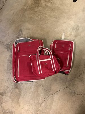 Pink matching luggage with carry bag for Sale in Denver, CO