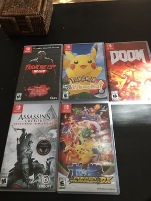 Nintendo switch games I'm looking to trade for other Nintendo switch games! for Sale in San Diego, CA