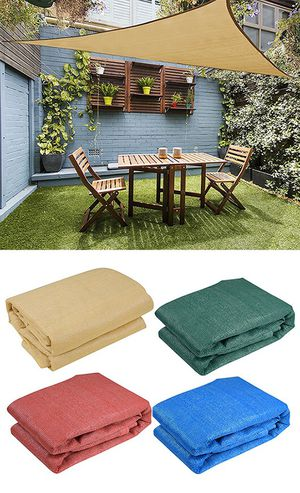 (New in box) $25 each 16.5' Triangle Sun Shade Sail Outdoor Canopy Patio Cover (Tan, Red, Green, Blue) for Sale in Whittier, CA