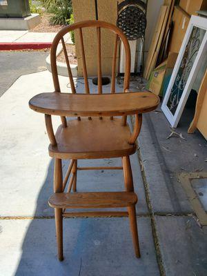 Antique oak high chair for Sale in Las Vegas, NV