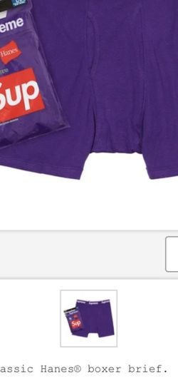 Supreme Purple Hanes Boxer Brief for Sale in Lomita,  CA