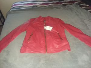 Womens Red Leather Jacket for Sale in North County, MO
