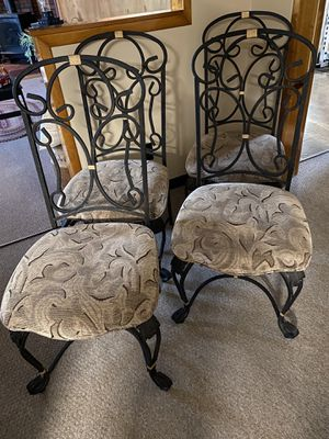 6 Piece Rod Iron & Glass Dining Room Set for Sale in Moundsville, WV