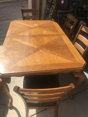 Wood dining table set for Sale in Chandler, AZ