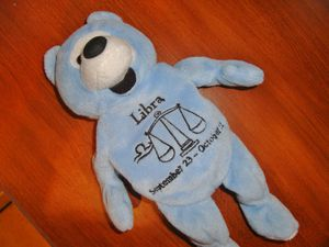 Libra bear, beanie baby, plush toy for Sale in North Las Vegas, NV