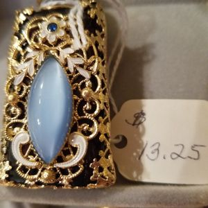 Perfume bottle with filigree & blue glass stone for Sale in Kent, WA