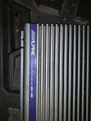Alpine 1000 watt amplifier for Sale in Palatine, IL