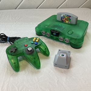 Nintendo 64 N64 Funtastic Jungle Green Bundle With Super Mario, Rumble, And Expansion Pack for Sale in Fort Lauderdale, FL
