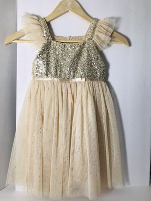 Girls Size 4 Gold Sequins Tutu Skirt Dress for Sale in Seattle, WA