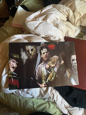 Halloween, Freddy, Jason, Leather Face Poster for Sale in Vista, CA