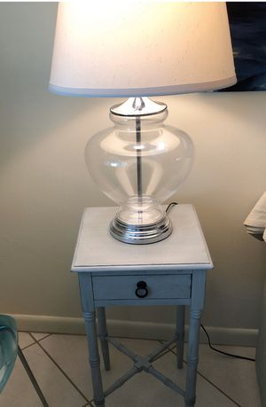 Pair of glass lamps for Sale in Oakland Park, FL