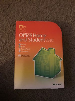 Microsoft office home and student 2010- one install left on disk for Sale in Tustin, CA
