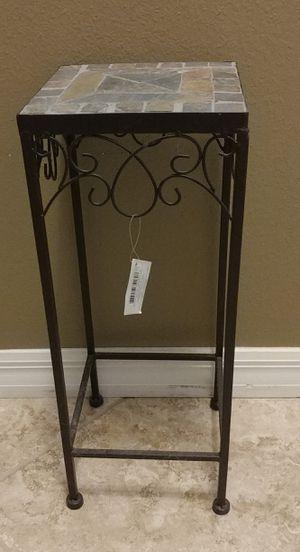 Slate tile top square metal decorative small table for Sale in Ocoee, FL
