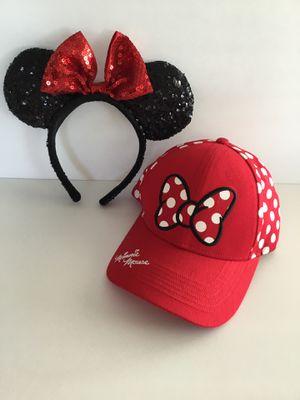 Disney Minnie Mouse Ears and Baseball Cap for Sale in Horseshoe Beach, FL