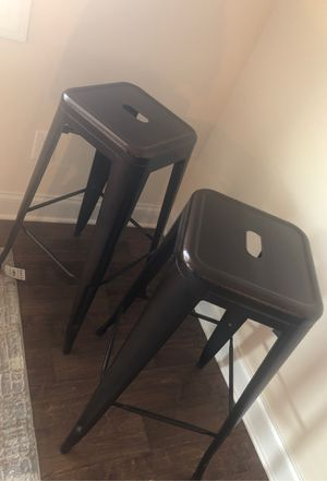 Two brown Bar height stools$100 one month old. Too high for counter. for Sale in Columbia, SC