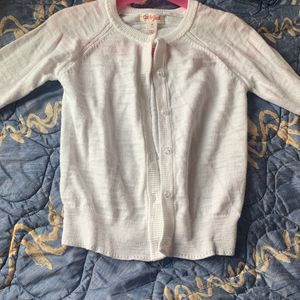 Cardigan White Cat & Jack Size 5 T for Sale in Columbia, MD
