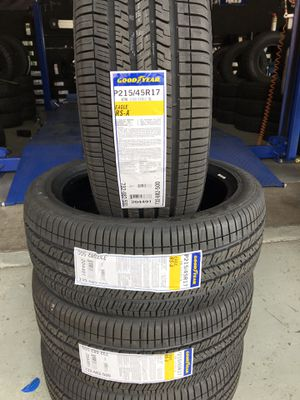 BRAND NEW SET OF GOODYEAR TIRES 215/45r17 215/45/17 for Sale in Fontana, CA