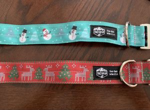 1.5 inch holiday Christmas dog collars for Sale in Temecula, CA