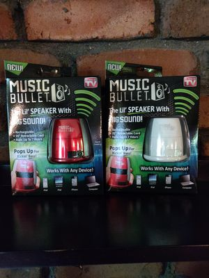 Music bullet the lil speaker with big sound for Sale in Washington, MI