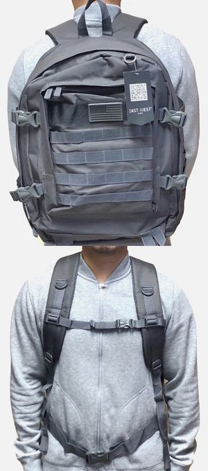 Brand NEW! Large Grey Tactical Molle Backpack For Everyday Use/Work/Traveling/Hiking/Biking/Camping/Fishing/Hunting/Sports/Gym for Sale in Carson, CA
