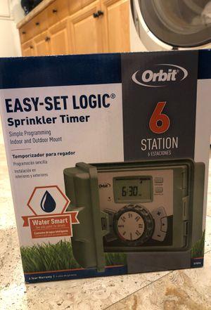 Orbit 57896 6-Station Outdoor Swing Panel Sprinkler System Timer for Sale in Los Angeles, CA