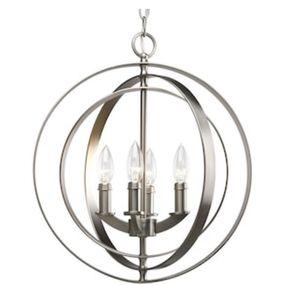 Chandelier Progress Lighting Equinox 4-Light Lighting Silver Transitional Globe for Sale in La Habra, CA