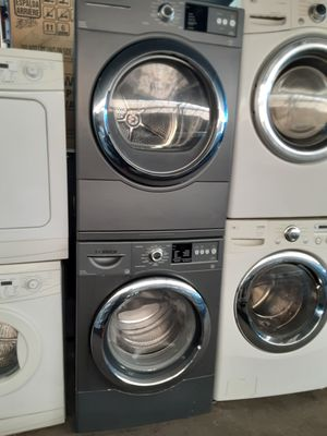 $699 Bosch stacked washer dryer set includes delivery in the San Fernando Valley a warranty and installation for Sale in Los Angeles, CA