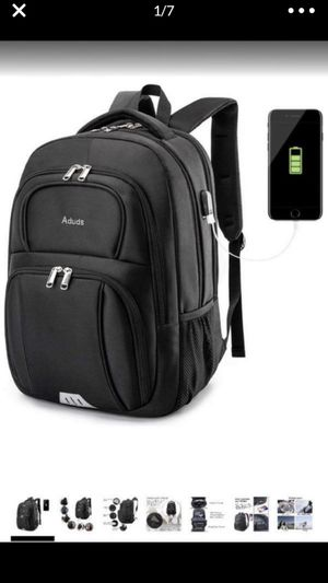 Aduds 15.6inch Laptop Backpack,Water-Resistant Durable Travel Business Computer Backpack with USB Charging Port,College Bookbag,Overnight Weekender for Sale in Hacienda Heights, CA