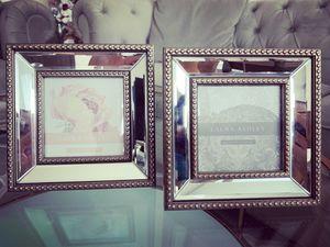 4x4 Champagne Mirror Picture Frame - Set of 2 for Sale in Atlanta, GA