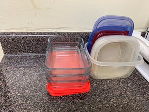 Pyrex 3 Cup 3pk Rectangular Food Storage Container Set for Sale in Silver Spring, MD