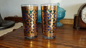 Goerge Briard set of 6 22kt gold covered glass's for Sale in Ceres, CA