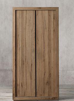 Restoration Hardware Reclaimed Russian Oak Double-Door Cabinet for Sale in Boulder,  CO