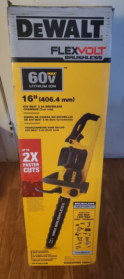 BRAND NEW, DEWALT 16 in. 60V MAX Lithium-Ion Cordless FLEXVOLT Brushless Chainsaw, (TOOL-ONLY) NUEVA for Sale in Henderson,  NV