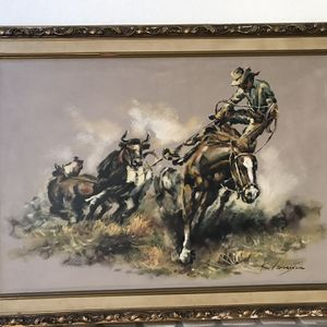 Cowboy Oil Painting for Sale in San Diego, CA