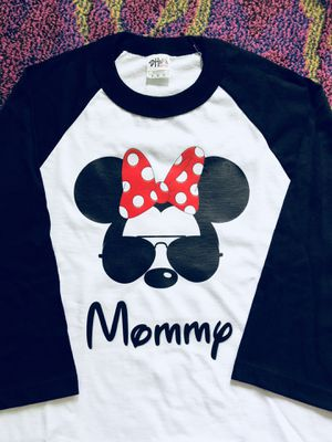Minnie Mouse w/ Glasses Mommy Baseball Tee for Sale in Long Beach, CA