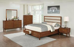 NEW Modern Banning 4 Pc King Size Bedroom Set with Storage drawers for Sale in KNG OF PRUSSA, PA