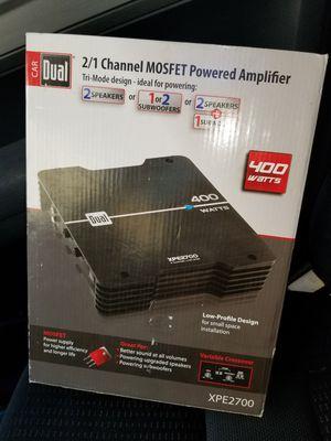 new dual 400 watt car amplifier stereo audio for Sale in Chesapeake, VA