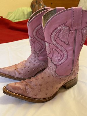 Little girls pink boots size 1 for Sale in Anaheim, CA
