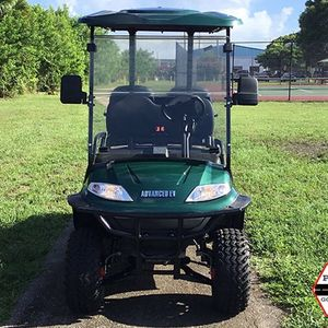ADVANCED EV NEW GREEN 4 PASSENGER ADVANCED EV LIFTED LSV STREET LEGAL GOLF CART FAST LUXURY AC MOTOR 2YR WARRANTY TROJAN BATTERY FLIP SEAT.ALOY RIM for Sale in West Palm Beach, FL