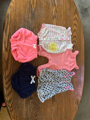 Baby Girl Summer Outfits, and Shorts, Newborn size for Sale in Tacoma, WA