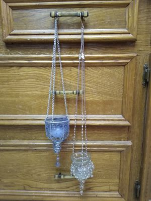 Pair of hanging boho candle holders for Sale in Richardson, TX