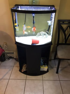 29 gallon bow front fish tank for Sale in Jersey City, NJ