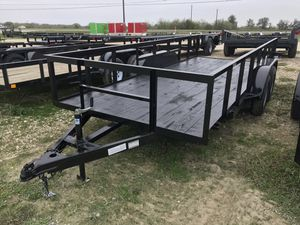 16x76 Utility Trailer 2' high sides for Sale in Austin, TX