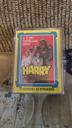 1987 Topps Harry and the Henderson's complete set cards for Sale in Hedgesville, WV