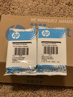 HP Printer Ink. ( 64/303) Tri-color And black Cartridge for Sale in Tukwila,  WA