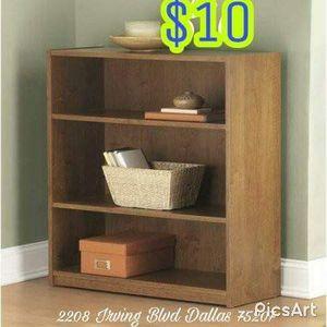 New 3 shelf bookshelves $10 for Sale in Dallas, TX