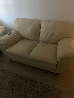 White leather couches for Sale in Houston, TX