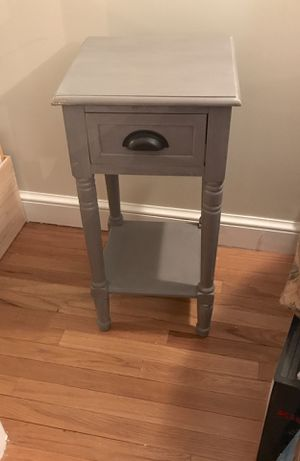 Gray Accent Table w/ Drawer & Shelf for Sale in Westerville, OH
